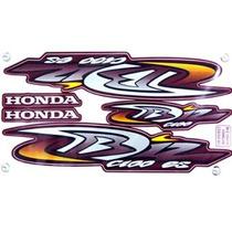 Kit Jogo Adesivo Moto Honda Biz100 Es 2004 Vermelha + Brinde