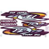 Kit Jogo Adesivo Moto Honda Biz100 Es 2004 Vermelha