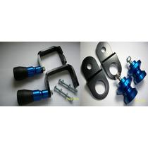Slider Traseiro Dianteiro Cb300 Cb300r Azul Frete Grátis