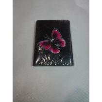 Carteira (porta Documentos) Borboleta Rosa