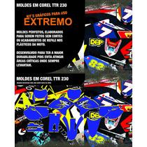 Moldes Adesivos Yamaha Ttr 230 - Kit Gráfico