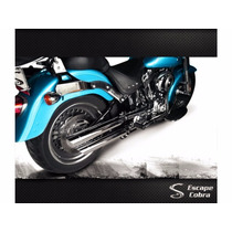 Ponteira Fat Boy Sport Chanfro Regulavel Harley Escape Cobra