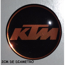 Adesivo Ktm Resinado Motos Capacete 2cm Diametro
