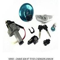 Chave Ignição Kit Titan150 2006-2008 Com Sensor + Brinde