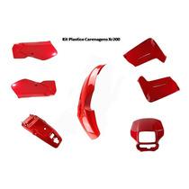 Kit Plasticos Carenagens Xr200 Vermelho Jogo