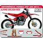 Adesivos-crf 230 2015 -alpinestars S Red - Qualidade 3m