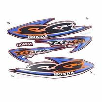 Kit Jogo Adesivo Honda Titan125 Es 2000 Vermelho
