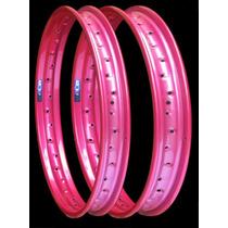 Par Aro Roda Pop 100,biz 100 125 120x17 + 160x14 Rosa Pink