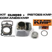 Kit Kmp Cilindro + Pistao + Anéis +jtas Titan 150 P/ 190 Cc