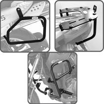 Kit Bmw G650gs Protetor Motor Bagageiro Afastador De Alforge