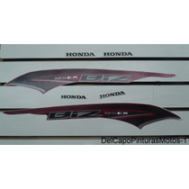 Adesivos Biz Ex 2013 Vermelho Modelo Original - 10419