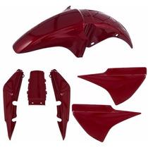 Kit Plas Carenagem 5 Pecas Titan 150 04/05 Vermelho S/adesiv