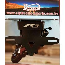Suporte De Placa Para Yamaha R3 (14/15) Com Luz De Led,novo!
