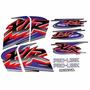 Kit Jogo Adesivo Moto Honda Xlr125 Es 2001 Preta