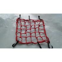 Rede Elástica Vermelha Moto / Bagageiro / Capacete - 35x35