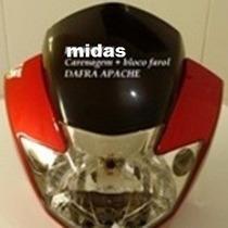 Carenagem + Bolha + Farol Dafra Apache - Vermelha - Promoção
