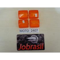 Moto 2407 Lente Pisca Xlx 350. Cbx 200 Nx 150 Amarela Jogo