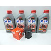 Kit Troca De Oleo E Filtro Fram Api Sl Ma Mobil 4t Mx 10w-30