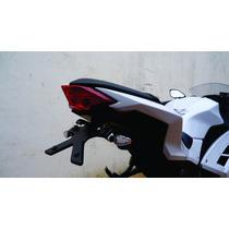 Suporte Placa Eliminador Kawasaki Ninja 300r P/ Piscas