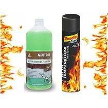 Kit Neutralizador De Ferrugem + Tinta Spray Alta Temperatura