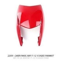 Carenagem Farol Nxr150 Bros 2011-2012 Vermelho S/adesivo