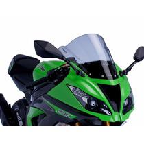 Bolha Racing Fumê Acrílico Kawasaki Zx-6r Ninja 636 Puig