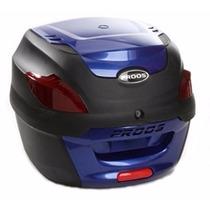 Bau Moto Bauleto 41 Litros Proos Preto E Azul Frete Grátis