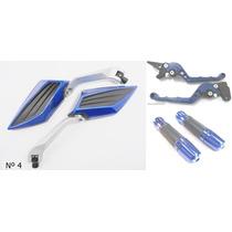 Kit Retrovisor Manopla+manete Nxr Bros 160 Honda