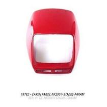 Carenagem Farol Nx200 Vermelho S/adesivo + Brinde