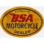 22432 - Placa Decorativa Moto Motorcycle Bsa