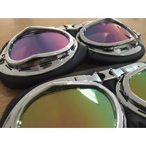 Óculos Proteção Goggle Vintage Retro Aviador Moto,custom,hd