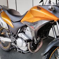 Slider Protetor Motos Xre 300 Xre300 Honda Carbon Dianteiro