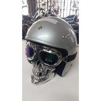 Farol Cranio Caveira Motos Custom Triciclo (frete Gratis)