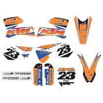 Kit Adesivo Grafico Ktm De Trilha E Motocross