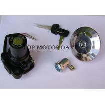 Kit Jogo Travas Chave Ignição Moto Yamaha Fazer 250 2006