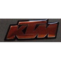 Adesivo Ktm Resinado Motos Capacete 4x1,5cm Laranja