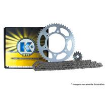 Kit Transmissão/relação K Para Cg 125 2000 A 2008 Aço 1045