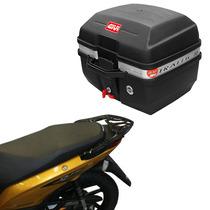 Kit Honda Biz Mix Baú Givi E27m + Suporte Bagageiro Scam