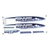 Kit Jogo Adesivo Moto Honda Biz100+ 2002 Prata + Brinde