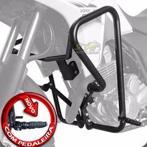 Protetor De Motor Carenagem Scam Preto Xre 300 C/ Pedaleira