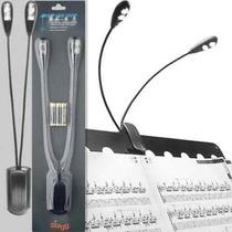 Luminária Stagg Para Partitura Dupla Mus Led-2 De Led