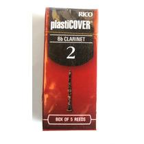 Palheta Clarinete Nº2 Rico Plasticover Cx 5 Und. Rrpo5bcl200