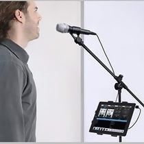 Suporte Tablet Para Pedestal De Microfone Ask M6