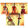 1 Miniatura Coleção Instrumentos Musicais Violão Guitarra