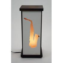Luminária Abajur Saxofone Sax Música Instrumento Musical