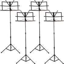 4 Estante Para Partitura Pedestal Retrátil Suporte Dobrável