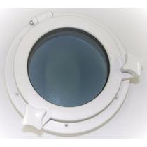 Vigia Gaiuta Circular Em Abs Branco 21cm C/ Vidro Temperado