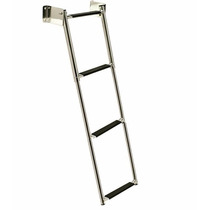 Escada Telescópica Retrátil Em Aço Inox Seachoice 4 Degraus