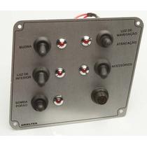 Painel De Comando Em Alumínio Escovado 5 Funções