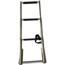 Escada Inox 3 Degraus - Telescópica Com Pegador
